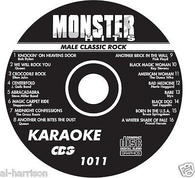 Karaoke Monster Hits Cd G Male Classic Rock  1011