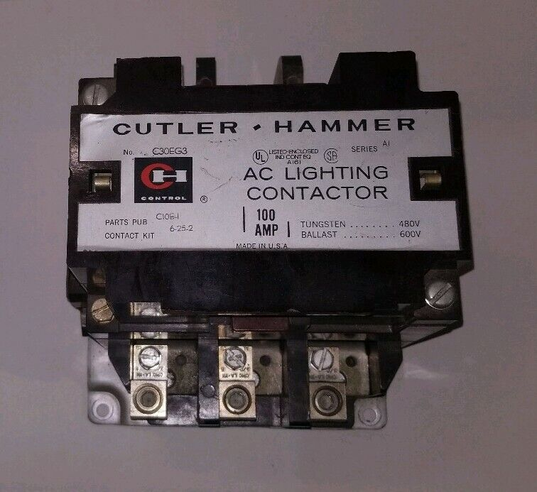 Cutler Hammer 100A Lighting Contactor C30EG3
