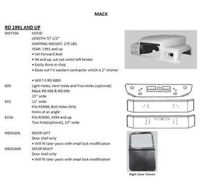MACK RD BODY PARTS 1991 & UP
