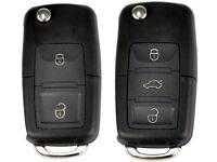 VW Golf, BEETLE, CADDY, JETTA - Remote / Fob Key Cut and programmed