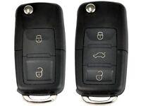 VW Golf, BEETLE, CADDY, Fox, JETTA, Polo, Touran - Remote Car Key Fob Key Cut and programmed