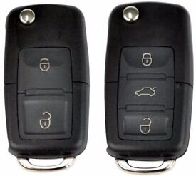 VW-SEAT-SKODA 1J0 959 753 AG/1J0 959 753 CT 2 BUTTON REMOTE KEY CUT & PROGRAMMED