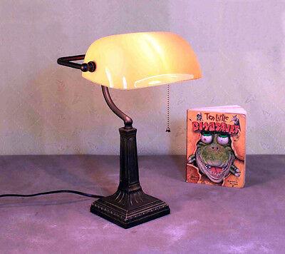 Tisch Büro Lese Banker Lampe Bürolampe Tischlampe Kipplampe Cognac GN167GE