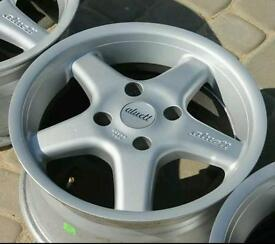 Set of Aluetts 4x114.3 wheels and tyres