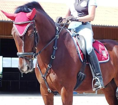 Ausbildungs und Reithilfe Ringmartingal Martingal Leder reiten lernen Pferd