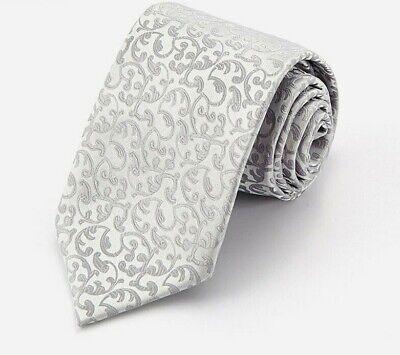 Cravatta cravattino uomo donna elegante argento floreale silver flower