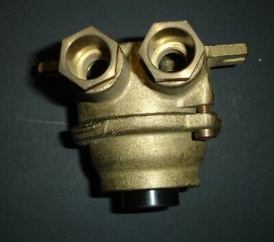 cast brass electrical steampunk/WW2 style pushbutton