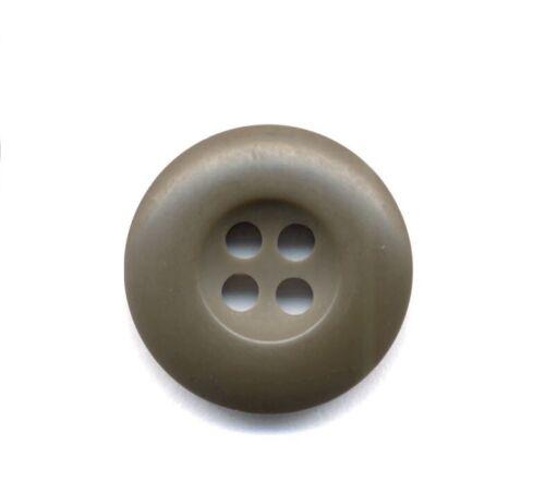 "Lot of 25 US Army Mil Spec OD Green Fatigue BDU Uniform Buttons 3/4"" (19mm)"