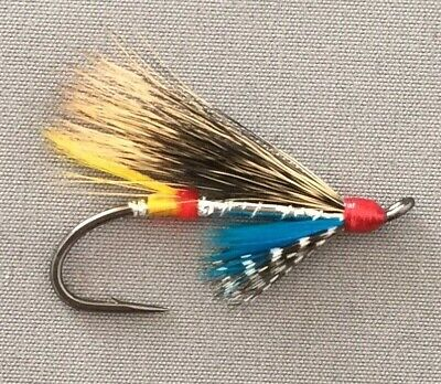 3 X General Practitioner Red Salmon Flys Size 6 Doubles