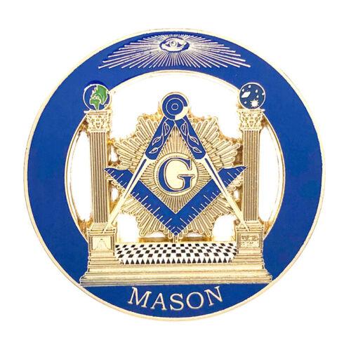 Masonic car emblem 3 inch gold #CD10