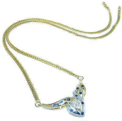 KOR Bicolor Diamant Collier 750 Gold / 18 kt aus Schmuckset