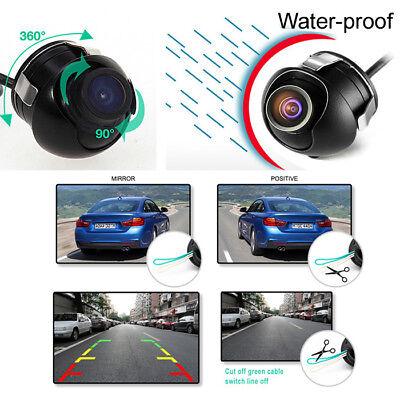 360° Rotation Mini CCD HD Car Front Side Rear Backup Video Camera Mirror Image