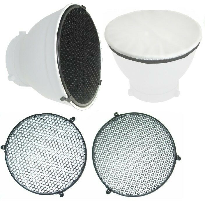 "6.5"" 20° 40° Honeycomb Grid Diffuser Sock Set for Bowens Standard Reflector NEW"