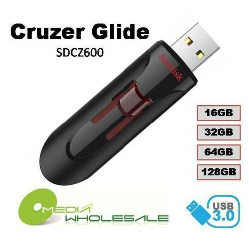 Sandisk Usb 3.0 Cruzer Glide 16gb 32gb 64gb 128gb Flash Drive Thumb Stick Memory