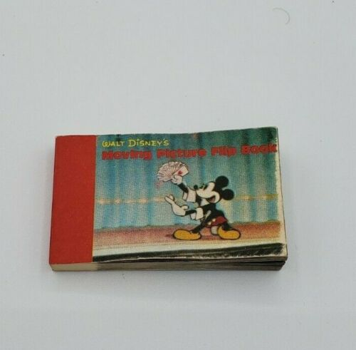 Vintage Disney Moving Picture Flip Book 2 Scenes Mickey Mouse Magic Donald Duck