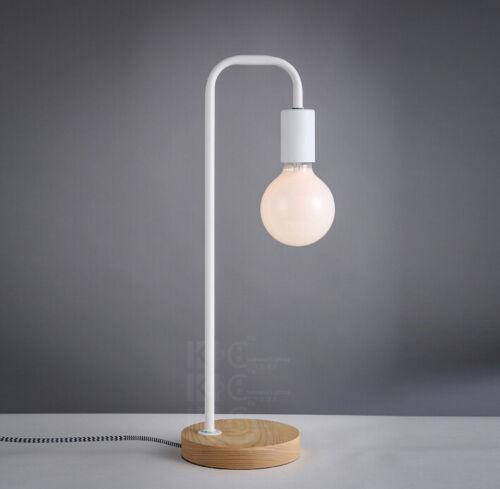 design modern table lamp bedside desk floor light home cafe elegant wood base. Black Bedroom Furniture Sets. Home Design Ideas