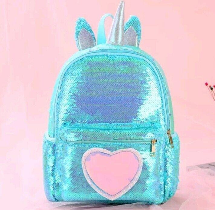 Unicorn Backpack Teen-girls  Bag Glitter Bling Sequins Shoulder Bag Cute