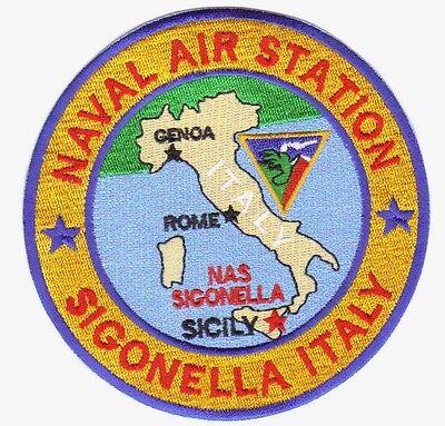 US NAVY BASE PATCH, SIGONELLA, SICILY,  -