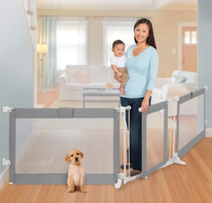 Expandable baby gate with walk thru NEW!