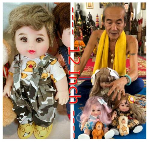 Thai Amulet Boy Doll Luk Thep Kuman 12 Inch Strong White Magic By Aj Kom No.4