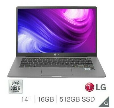 """NEW LG Gram, Intel Core i7-1065G7, 16GB RAM, 512GB SSD, 14"""" Ultra-Light Laptop"""