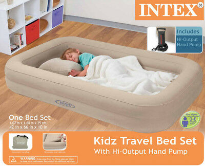 Kids Travel Bed Inflatable Portable Folding Toddler Air Matt