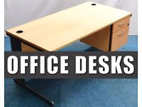 Office Desks - With Pedestal - 8x Available