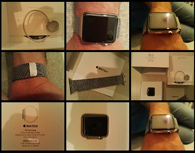 Apple Watch 42 Mm Stainless Steel Sapphire Crystal Milanese Loopmagnetic Closure - apple - ebay.it