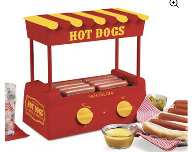 Hot Dog Roller Bun Warmer Adjustable Heat Machine Cooker Grill Retro Taquitos