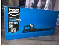 Mac allister cordless blower cordless (battery in box) brand new