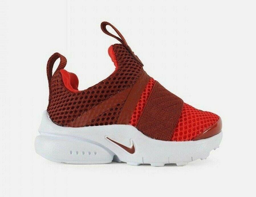 Nike Infant & Toddler's PRESTO EXTREME TD Shoes Mars Stone/Red 870019-604 c