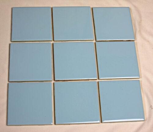 Vintage Light Blue 4.25 inch Ceramic Wall Tiles