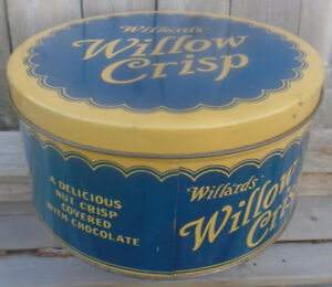 VINTAGE 1930's WILLA'RDS' WILLOW CRISP (10 LB.) TIN CAN TORONTO