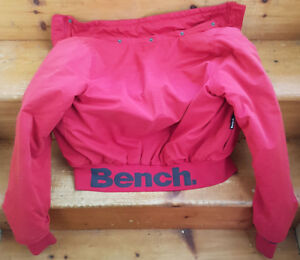 Women's Pink Bench Jacket Large