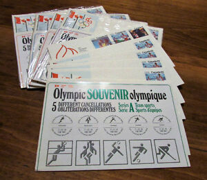 XXI Olympiad Montreal 1976 Souvenir 25 Issue Covers Kitchener / Waterloo Kitchener Area image 1