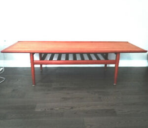 Danish Modern Teak Coffee Table by Grete Jalk for Glostrup Mobel