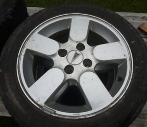 "Aluminum rims 15"" Great for winter tires. 4 X 100 4 Bolt pattern"