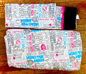 Monster High Set Of 2 Twin Sheets Fitted & Flat Complete NEW