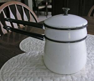 Enamelware Double Boil Pot-Chamber Pot