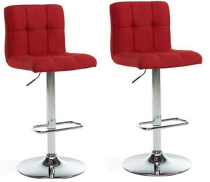 VERY MODERN & ELEGANT DESIGNER BAR STOOL RED WITH WIDER BASE$79