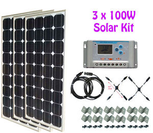 300W Solar Panel Kit + 30A controller + cable RV Cottage