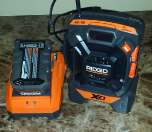 Ridgid Radio with 18v battery & charger