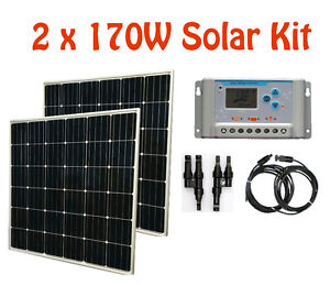340W Solar Panel Kit + 30A controller + cable RV Cottage