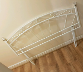 Nice White Metal Headboard For a Double Bed Good Condition Can Deliver