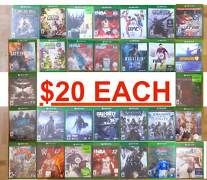 Xbox One 1    Games ( $20 EACH ) / ( 4 for  $70 ) PICK UP ONLY