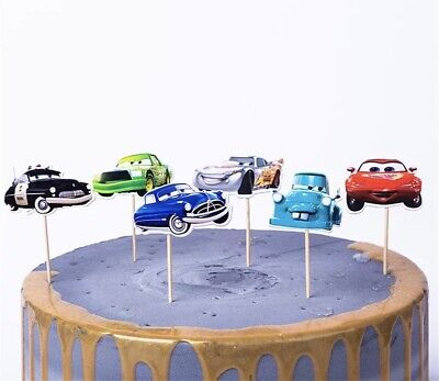 24 Kuchenstecker Cars Cupcake Geburtstag Muffins Katze Junge Autos Topper