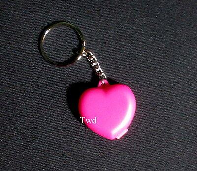 Tupperware New Mini Miniature PINK Punch Heart Case Keepsake Keyring Keychain