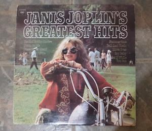 Janis Joplin Greatest Hits Vinyl Record LP