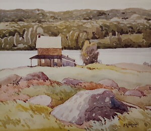 """A.J. Casson """"Lake Kashawigamog"""" Lithograph - Appraised at $650"""