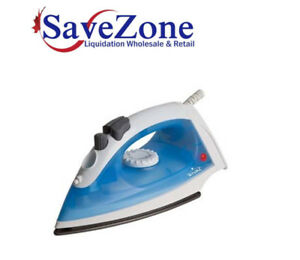 NEW- Rival Shot of Steam Iron, 1200 Watts Blue, NON-stick Bottom